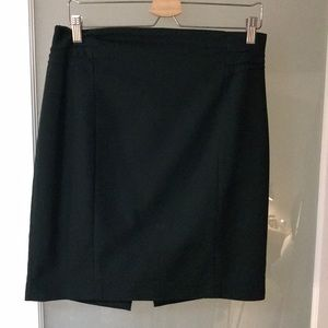 Express Forest Green Pencil Skirt